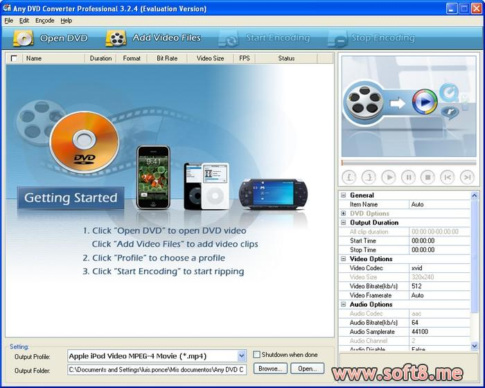 Any DVD Converter Professional 6.3.6 多國語言免安裝